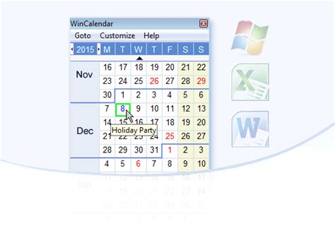 Desktop Calendar Windows Wincalendar Calendar Maker Word Excel Pdf Calendar