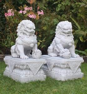 foo dogs statues foo dogs statues granite fu temple lions ebay