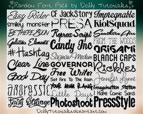 font pack random font pack by dolly tutoriales by dollytutoriales on