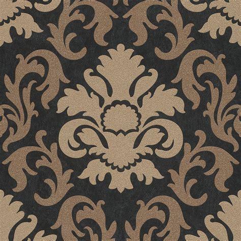 wallpaper gold damask p s carat black gold glitter wallpaper damask stripe