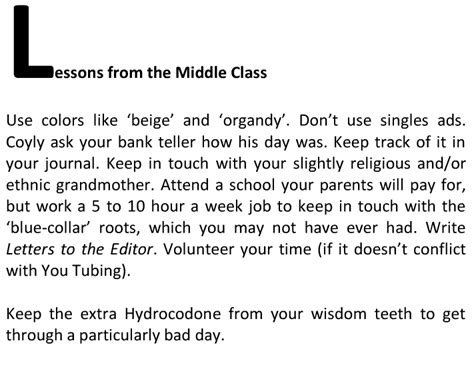 10 Lessons From The Classroom Of by Lessons From The Middle Class