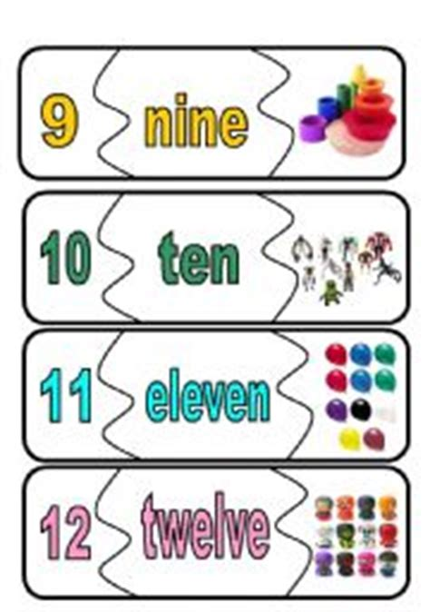 printable number and number word cards english worksheets number flashcards