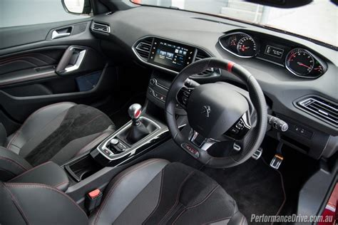 peugeot 308 gti interior 2016 peugeot 308 gti 270 review video performancedrive