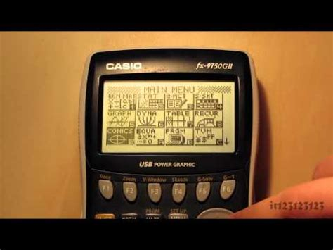 tutorial casio fx 9750gii casio fx 9750gii sc fx 9750gii ih graphing calculator