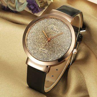 Jam Tangan Analog Wristwatch viser jam tangan wanita analog korea fashion leather
