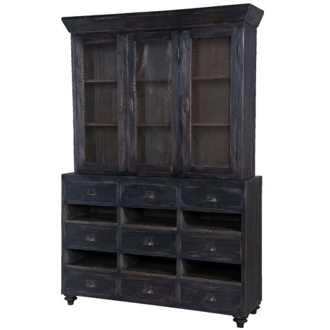 country farmhouse cabinet black