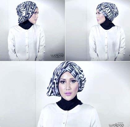 tutorial turban hijab style hijab tutorial simple turban style with motif scarf