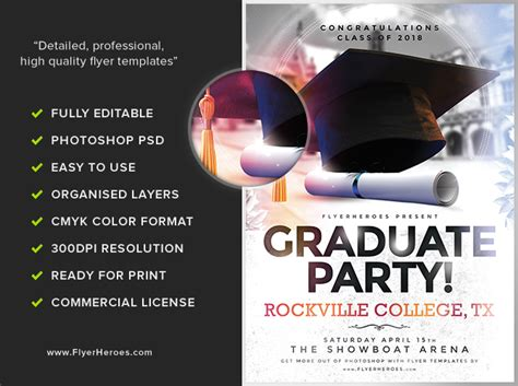 celebration flyer template graduation flyer template flyerheroes