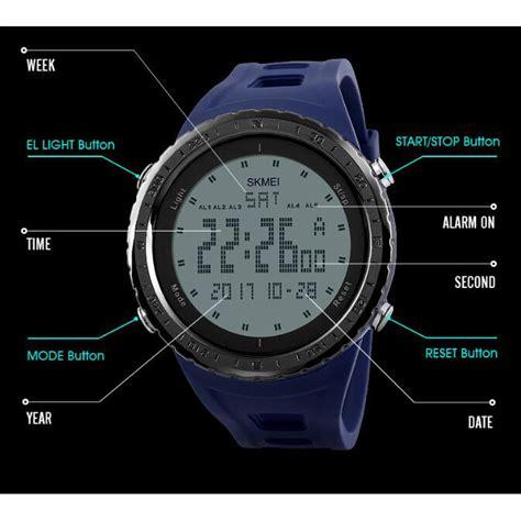 Jam Tangan Digital 5 skmei jam tangan digital pria dg1246 black jakartanotebook