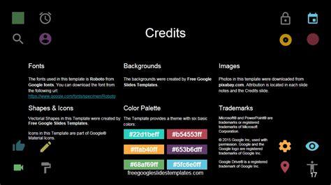google presentation themes dark credits google slide template free google slides templates