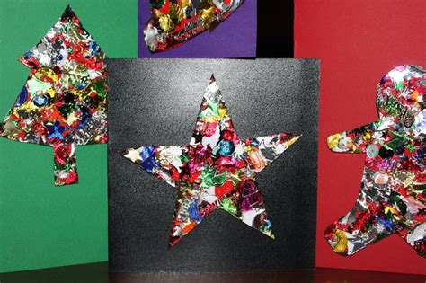 for kids to make at home made christmas easy christmasts home made christmas cards kids craft cute easy sequins