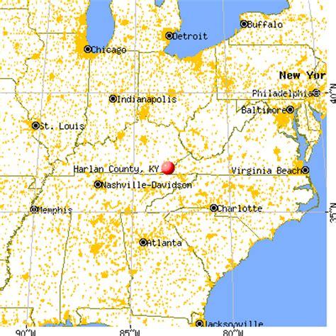 harlan ky map map of harlan county kentucky map