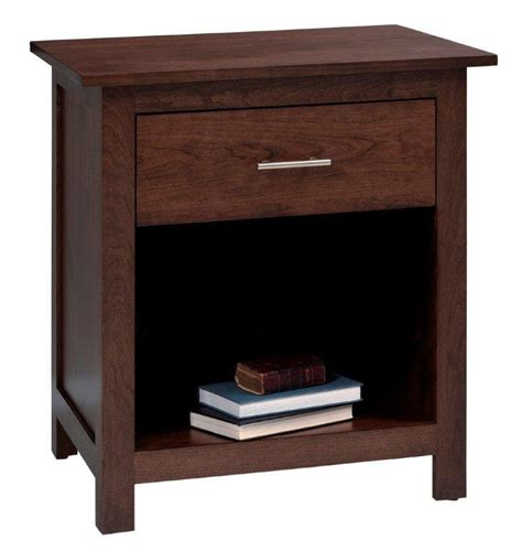 1 drawer nightstand plans amish ashton night stand