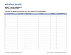 volunteer sign up form template volunteer schedule template free calendar template 2016
