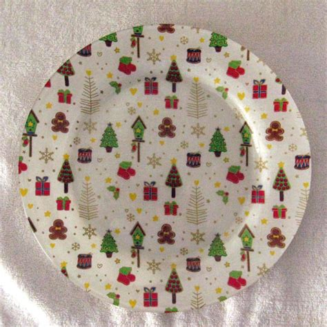 Decoupage Plates With Fabric - decorative decoupage fabric backed plate