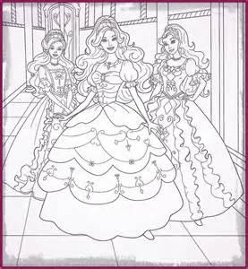 dibujos de barbie escuela de princesas para colorear