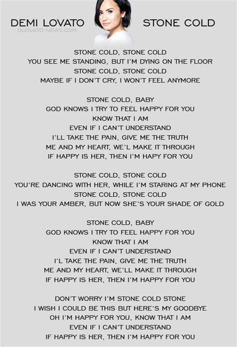demi lovato sober letra en ingles stone cold by demi lovato whether you like her music or