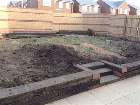 How Do Railway Sleepers Last by Railway Sleeper Steps Beds And Patio