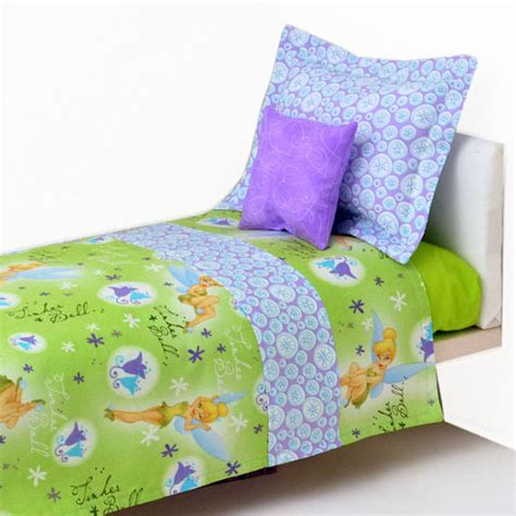 Tinkerbell 18 Inch Doll Bedding Sets American By Sparklypoodle Tinkerbell Bedding Set