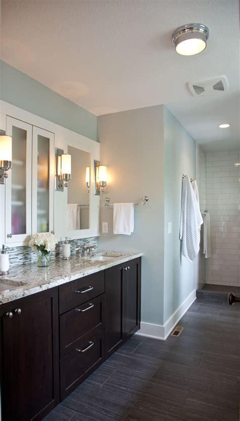dark cabinets bathroom like the floors dark vanity tiles but with full mirror wall instead for the home pinterest vanities dark and walls