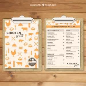 free menu templates grill menu template vector free