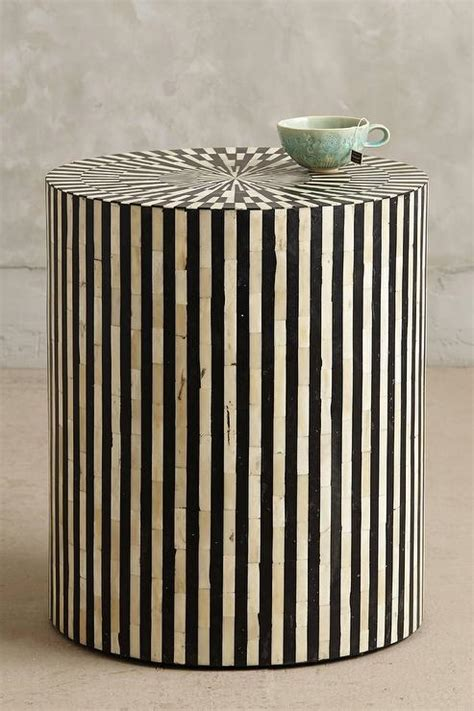 bone inlay side table i anthropologie