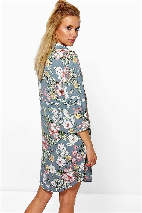 Shirt Dress Floral floral shirt dress boohoo
