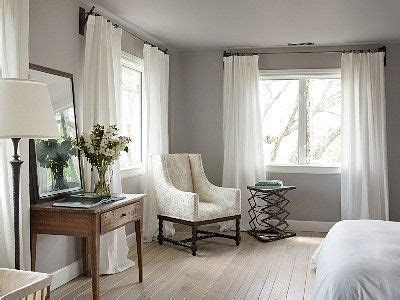 white curtains  gray walls  living space