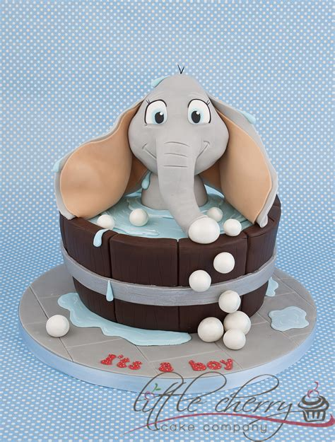 Elephant Baby Shower Cake by Elephant Bath Baby Shower Cake Cakecentral