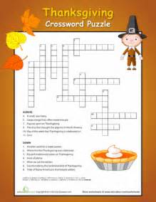 thanksgiving crossword puzzles printable 6 thanksgiving reading comprehension worksheets