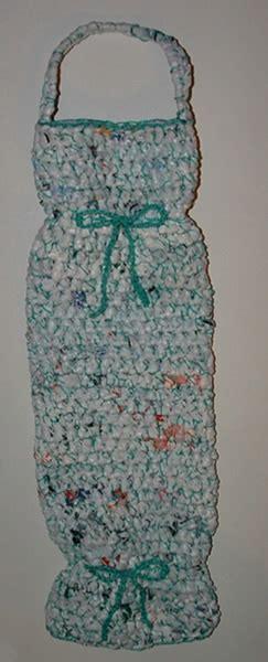 pattern crochet plastic bags plastic bag keeper pattern free pattern links crochetville
