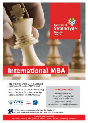 Strathclyde Mba Malaysia by Education Fairs And Open Days