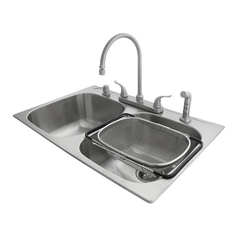 kitchen sink colander double kitchen sink with faucet and colander stainless
