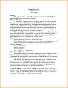 6 lab report format exle ledger paper