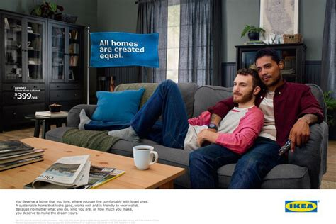 above the influence couch ikea s new ad features a gay couple because fighting over