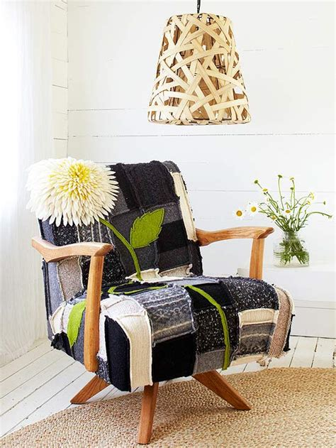 Patchwork Covered Chairs - felted patchwork chair cover better homes gardens