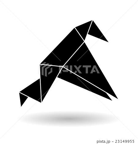 Flat Origami Designs - flat illustration of origami designのイラスト素材 23149955 pixta