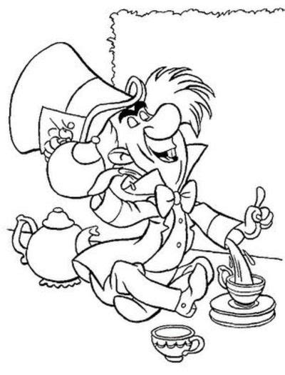 garden party coloring pages disney coloring pages mad hatter to be used for garden