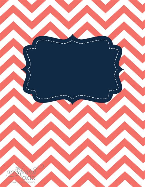 8 best images of blank chevron binder cover printables