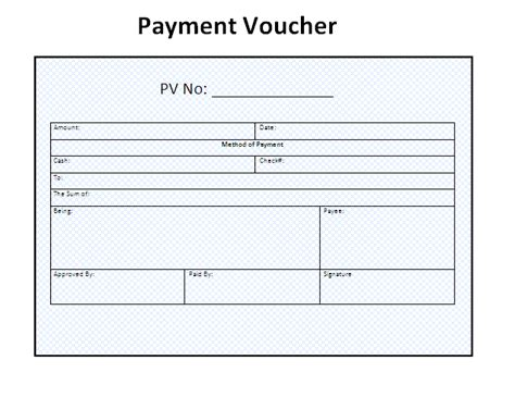 Payment Receipt Voucher Template Excel by 3 Payment Voucher Templatefree Word Templates