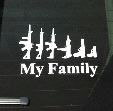 family sticker my family guns stick figure vinyl decal sticker for auto