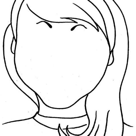 coloring pages of people s faces unusual blank faces template contemporary exle resume