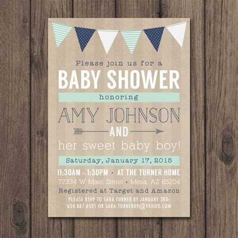 rustic baby boy shower rustic baby shower invitation baby boy shower invitation