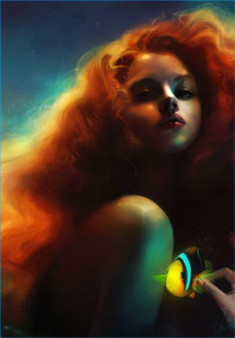 ariel painting lena mckinley ariel and flounder spire
