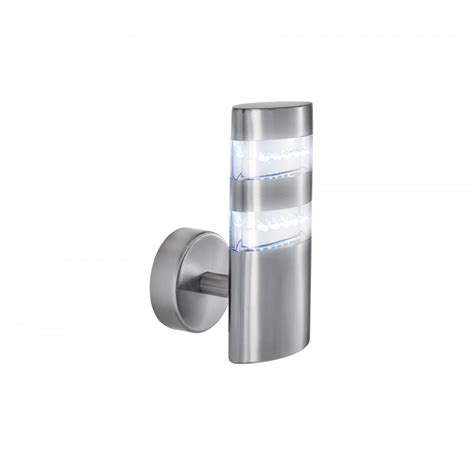 modern outdoor led wall lights searchlight 5308 outdoor led wall light satin silver