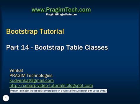 tutorial bootstrap tables sql server net and c video tutorial bootstrap table
