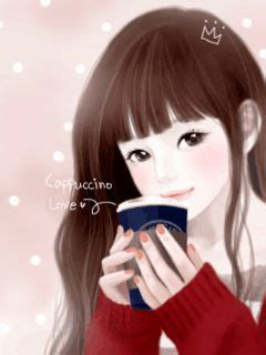 wallpaper cute korean girl cartoon cute korean anime girl wallpaper google search
