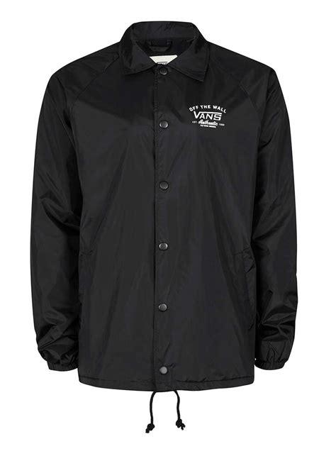 Jaket Vans Volka Skate Black vans black coach jacket s coats jackets clothing
