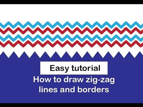 how to make a zigzag pattern in illustrator full download how to draw flowers borders