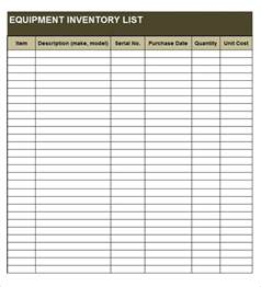 equipment list template equipment list template beepmunk